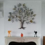 arbre de vie gris doré