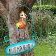 jardin- oiseau à suspendre bienvenue