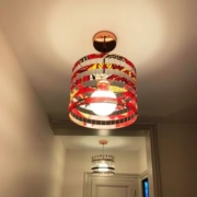 photo client- suspension petites séries entre illuminées