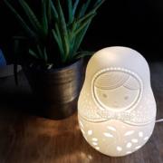 photo client-déco-lampe prcelaine matriocheka