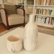 vases marbres