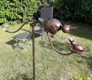 photo clients mobile jardin oiseau et nid