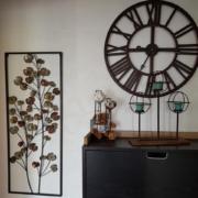 decoration metale photophore horloge 4
